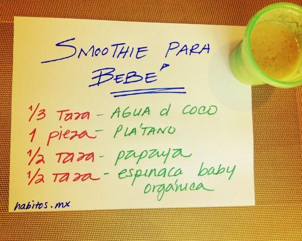 Bebés - primer green smoothie de Iker