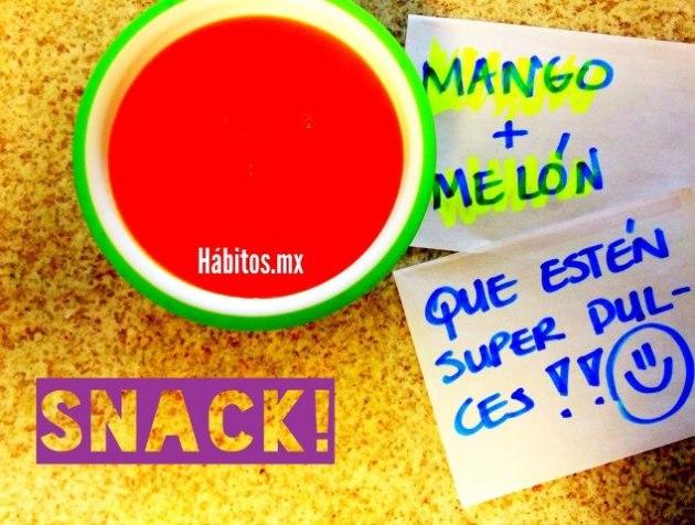 Bebés - snack mango + melón