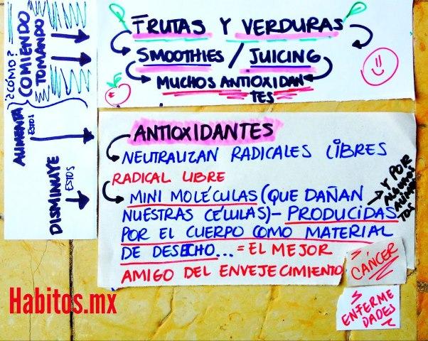 Buenos hábitos - frutas y verduras muchos oxidantes