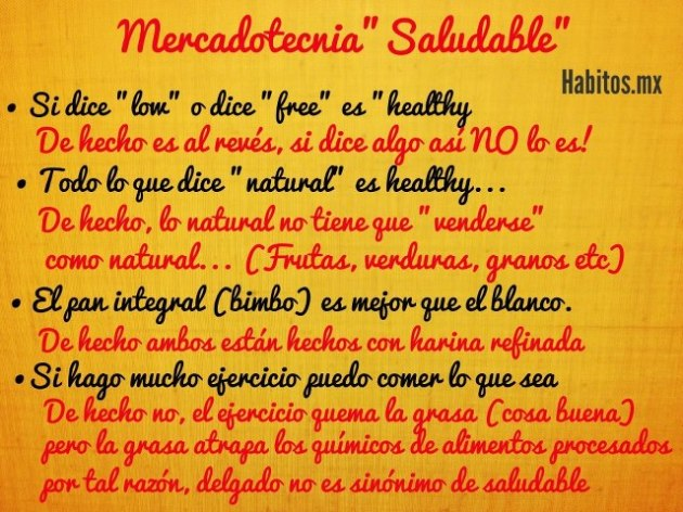 Buenos hábitos - mercadotecnia saludable