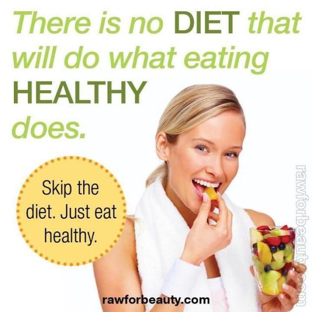 Buenos hábitos - no es dieta si comes saludable
