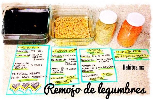 Buenos hábitos - remojo de legumbres