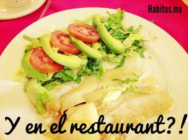 Buenos hábitos - y en el restaurant