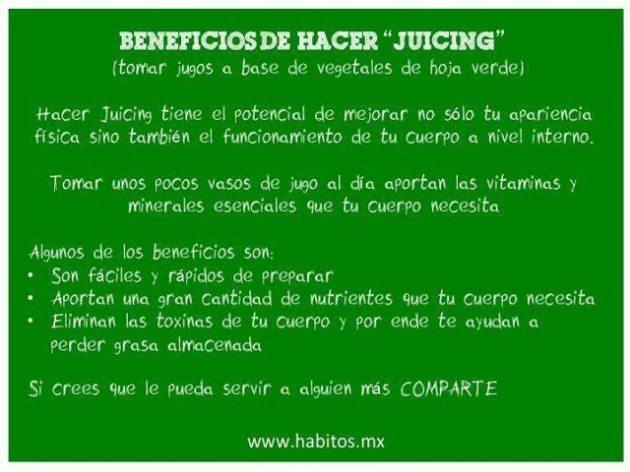 Juicing - beneficios del juicing