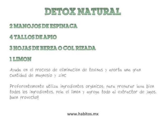 juicing - detox natural
