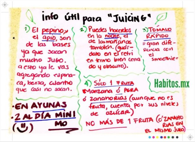 Juicing - info útiles Green Juicing