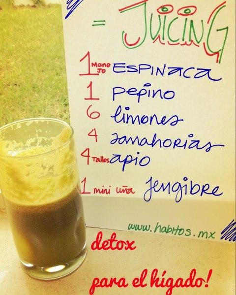 Juicing - jugo para desintoxicar el hígado