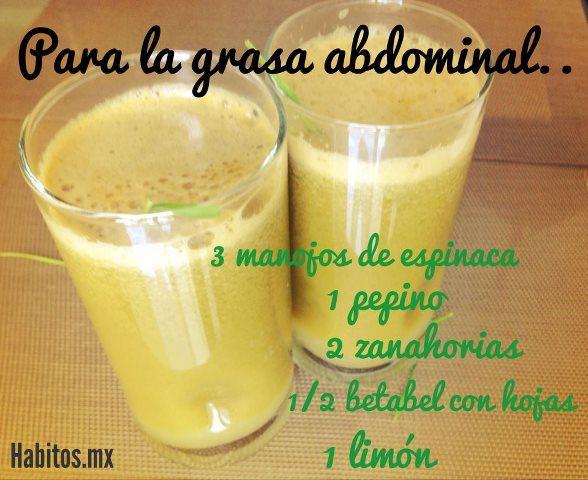 Juicing - jugo para grasa abdominal