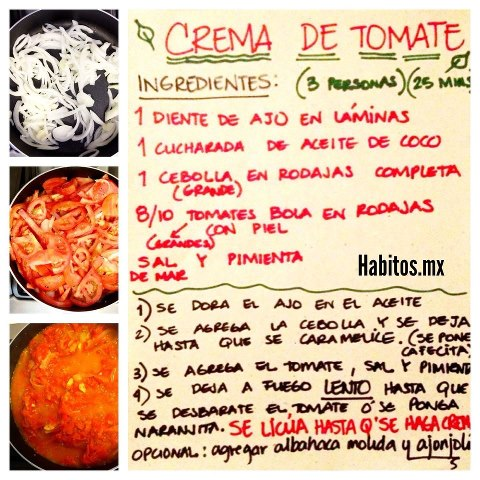 Recetas - crema de tomate