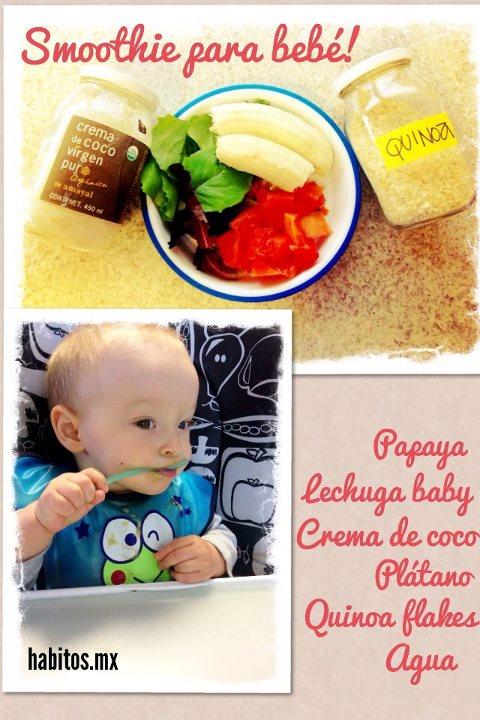 Bebés - smoothie con quinoa