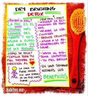 Buenos hábitos - dry brushing detox