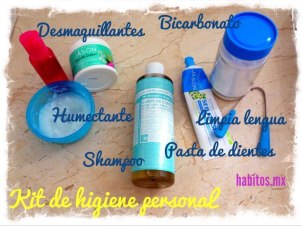 Buenos hábitos - kit de higiene personal