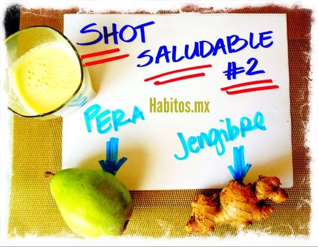 Buenos hábitos - shot saludable pera y jengibre