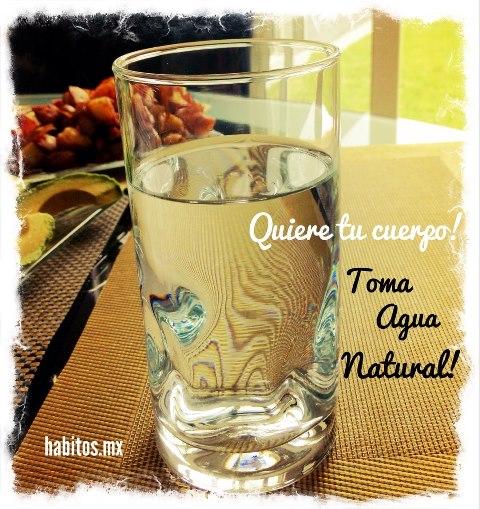Buenos hábitos - tomar agua natural