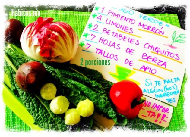 Juicing - jugo verde pimiento y betabel