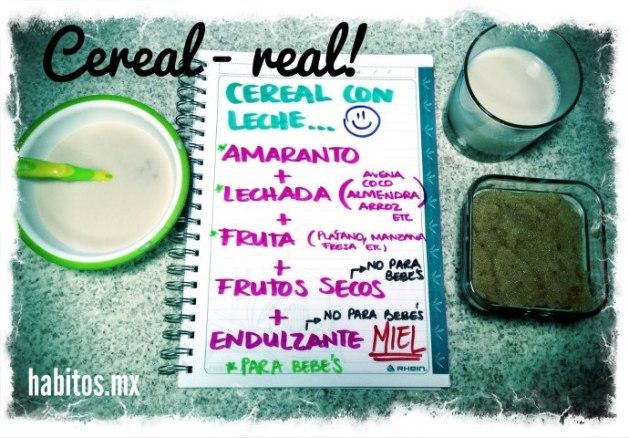 Recetas - cereal de amaranto